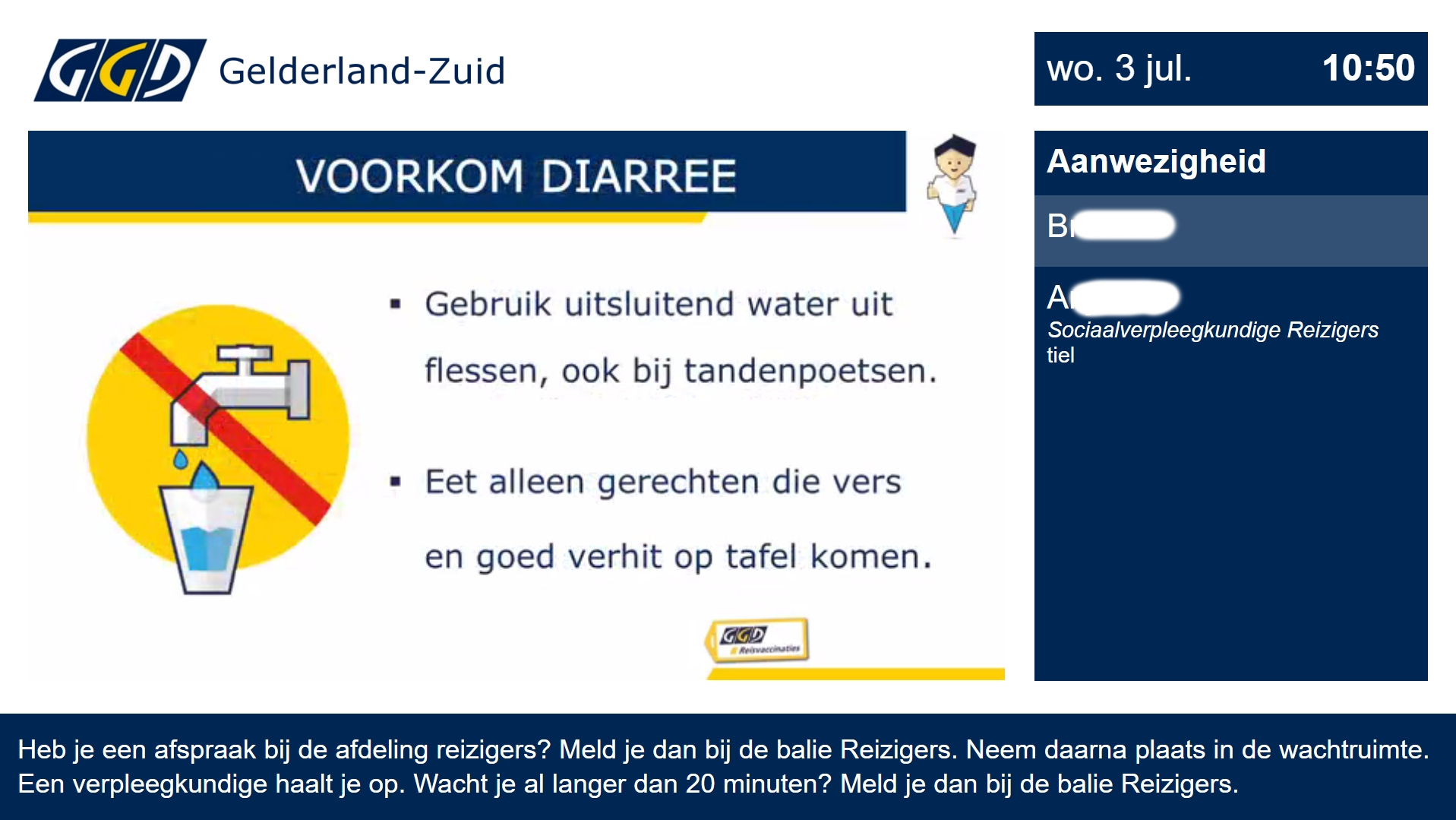 Tips via het Wachtkamerscherm®
